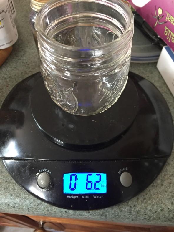 101217 medium jar on scale
